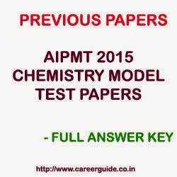 AIPMT 2015 Chemistry Model Online Test Paper Series  with Answer Key