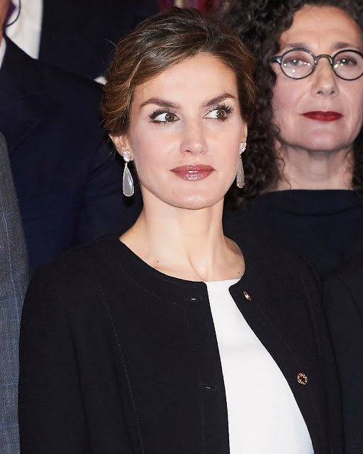 King Felipe VI of Spain and Queen Letizia of Spain attended the Delivery Gold Medals of Merit in Fine Arts 2014 at Museum of Fine Arts of Sevilla