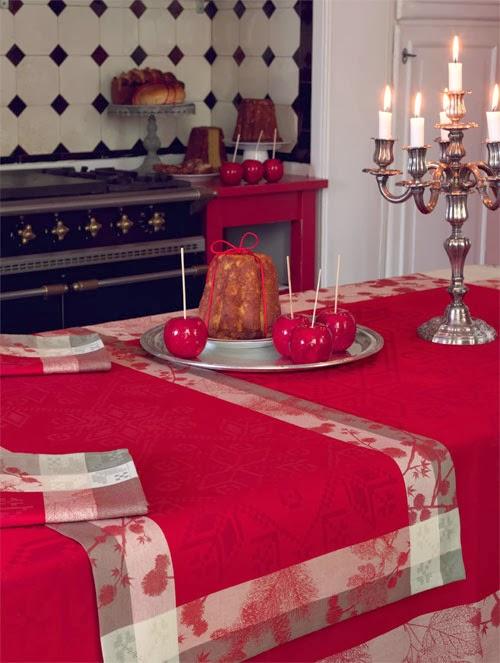 mantel sous la neige houx le jacquard francais tienda. Black Bedroom Furniture Sets. Home Design Ideas