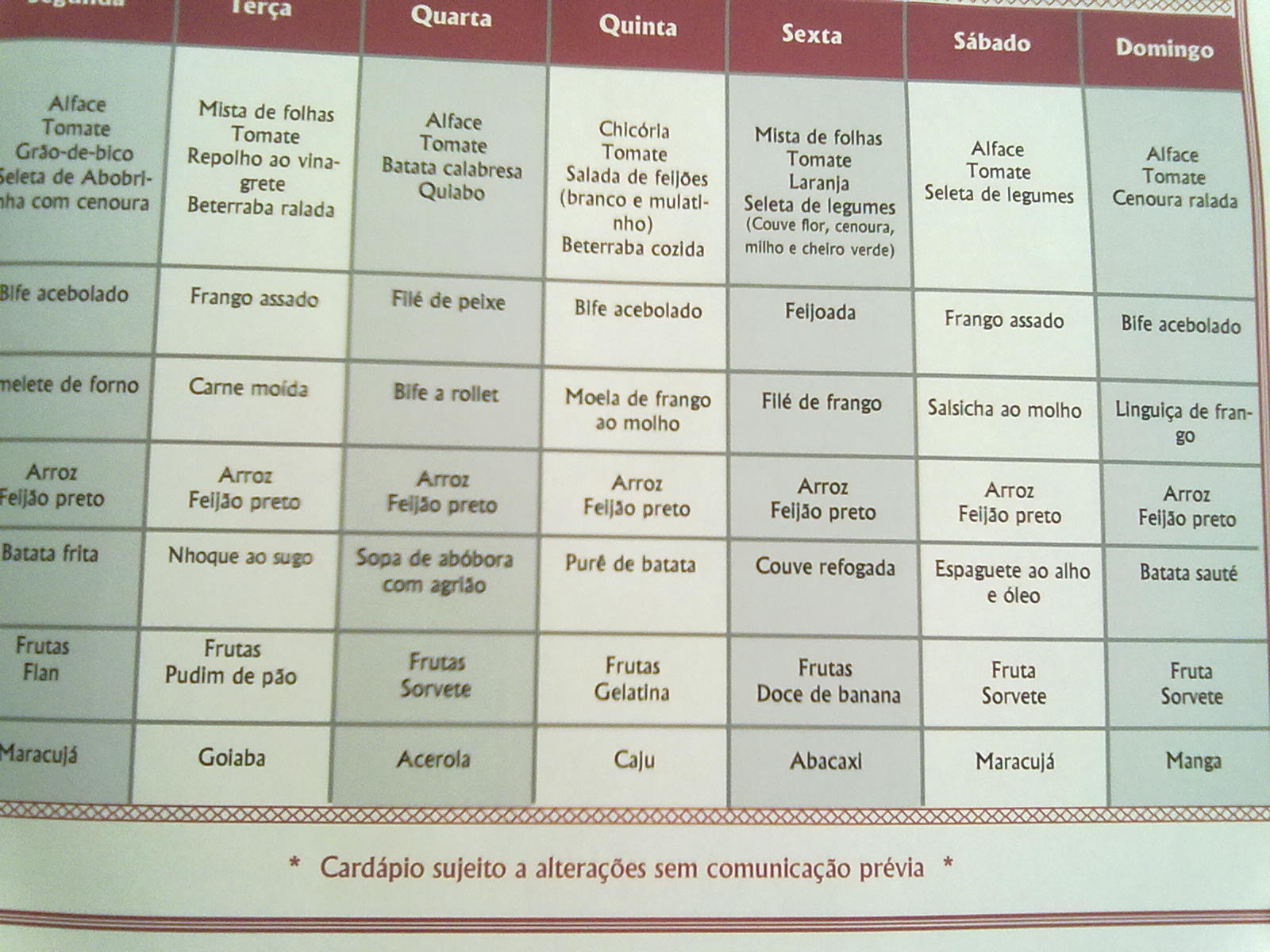 Prefer Ncia Cardapio Semanal Vegetariano Ku14 Ivango