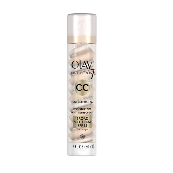 Olay CC Cream - Total Effects Tone Correcting Moisturizer with Sunscreen Broad Spectrum SPF 15 Light-to-Medium