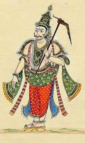 Baladewa Memegang Pusaka Nanggala