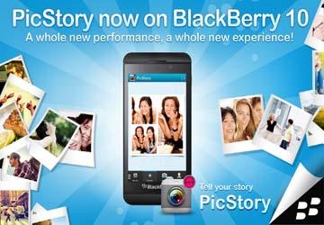 Aplikasi PicStory Versi Terbaru Untuk Edit Foto Di Blackberry Z10 Kamu