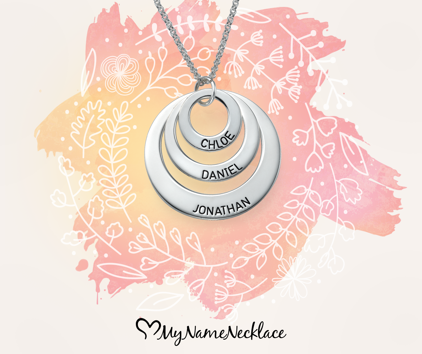 You've seen our Two Disc Necklace for Moms and now we have Jewelry for Moms - Three Disc Necklace. Our Mother's Day jewelry is super popular.