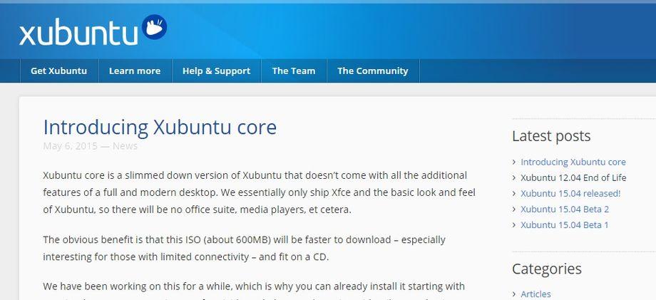 Xubuntu Core