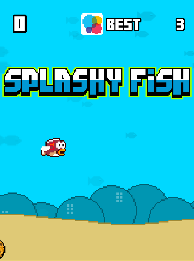 Splashy Fish game like Flappy Bird