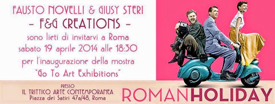 """VACANZE ROMANE di F&G - Fausto Novelli & Giusy Steri Creations  Accompagnando le nostre """" Audrey Hepburn """" alla Galleria d' Arte """"Il Trittico Art Museum"""" di Roma - dove dal 19 al 30 aprile 2014 saranno esposte e in vendita! ^__^  https://plus.google.com/102676590805199285488/posts/2dPLyAh72jr"""