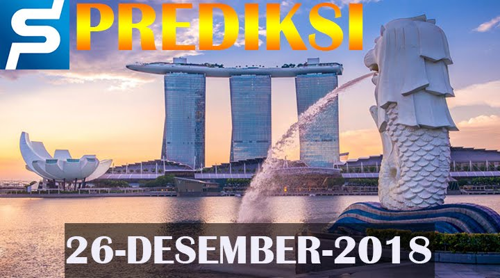 Prediksi Togel Singapore 26 Desember 2018 SGP Jitu