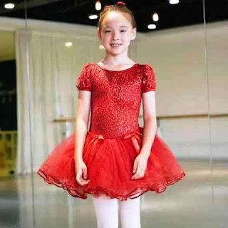 Baju Kostum Balet Anak Warna Merah