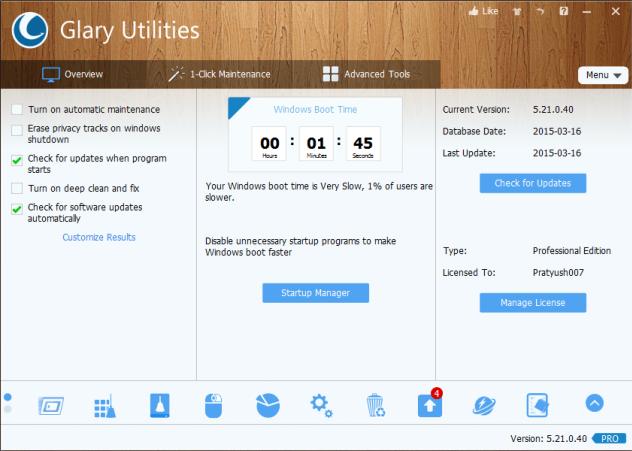 Glary Utilities Pro 5.21 Full Serial Keys