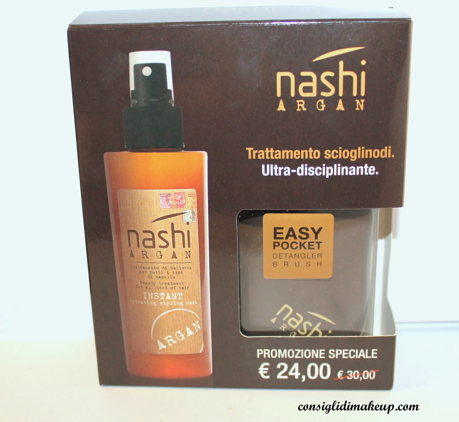 Review: Kit ultra disciplinante e sciogli-nodi - Nashi Argan
