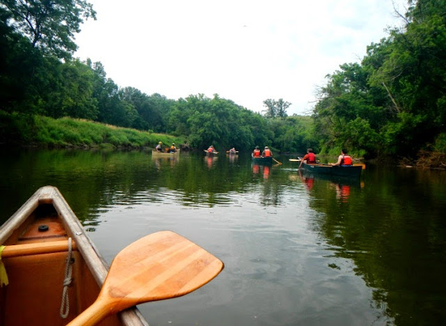 the paddling crew along the root river state water trail
