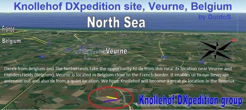 Knollehof Dxpedition Site, Veurne - Belgium - (by GuidoS)