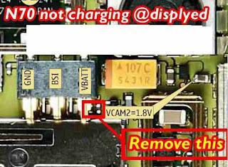 nokia n70 not charging