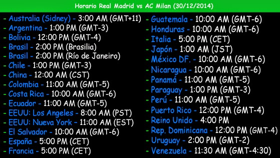 Horario del partido amistoso Real Madrid vs Milan