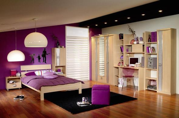 Dormitorios para chicas en color morado dormitorios - Muebles para habitacion ...