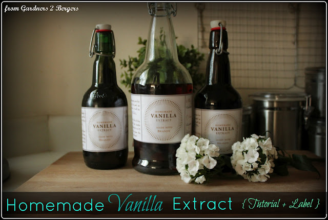 from Gardners 2 Bergers: Homemade Vanilla Extract + Printable