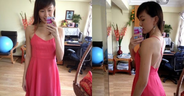 Singapore Blogshop Reviews Her Velvet Vase Duet Swish Dress In
