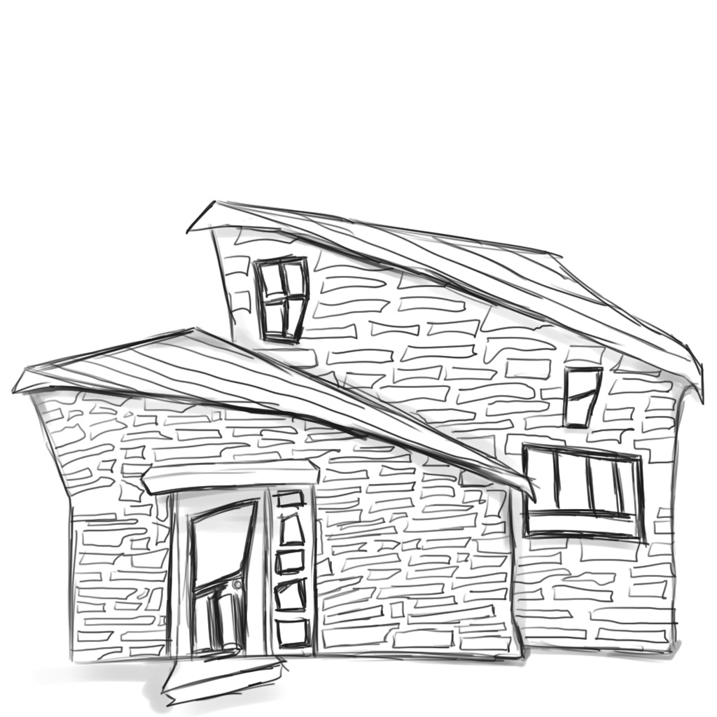 straw house coloring pages - photo#3