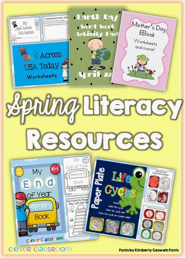 Spring themed resources Read Across America Earth Day Mothers Day End of year and life cycles