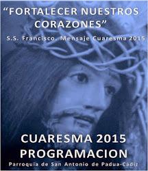 PROGRAMACIÓN  CUARESMA 2015