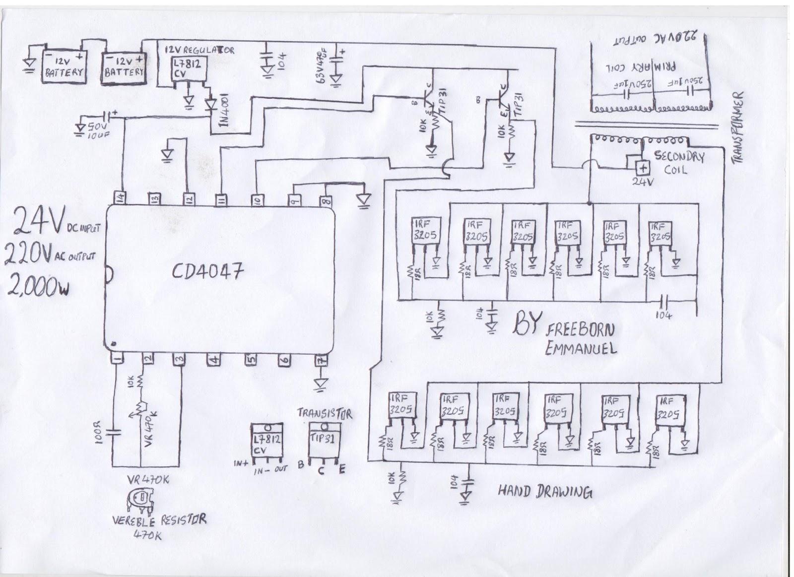 Circuit Diagram Of A 2kva Inverter Index 104 Power Supply Seekiccom How To Build 2000 Watt