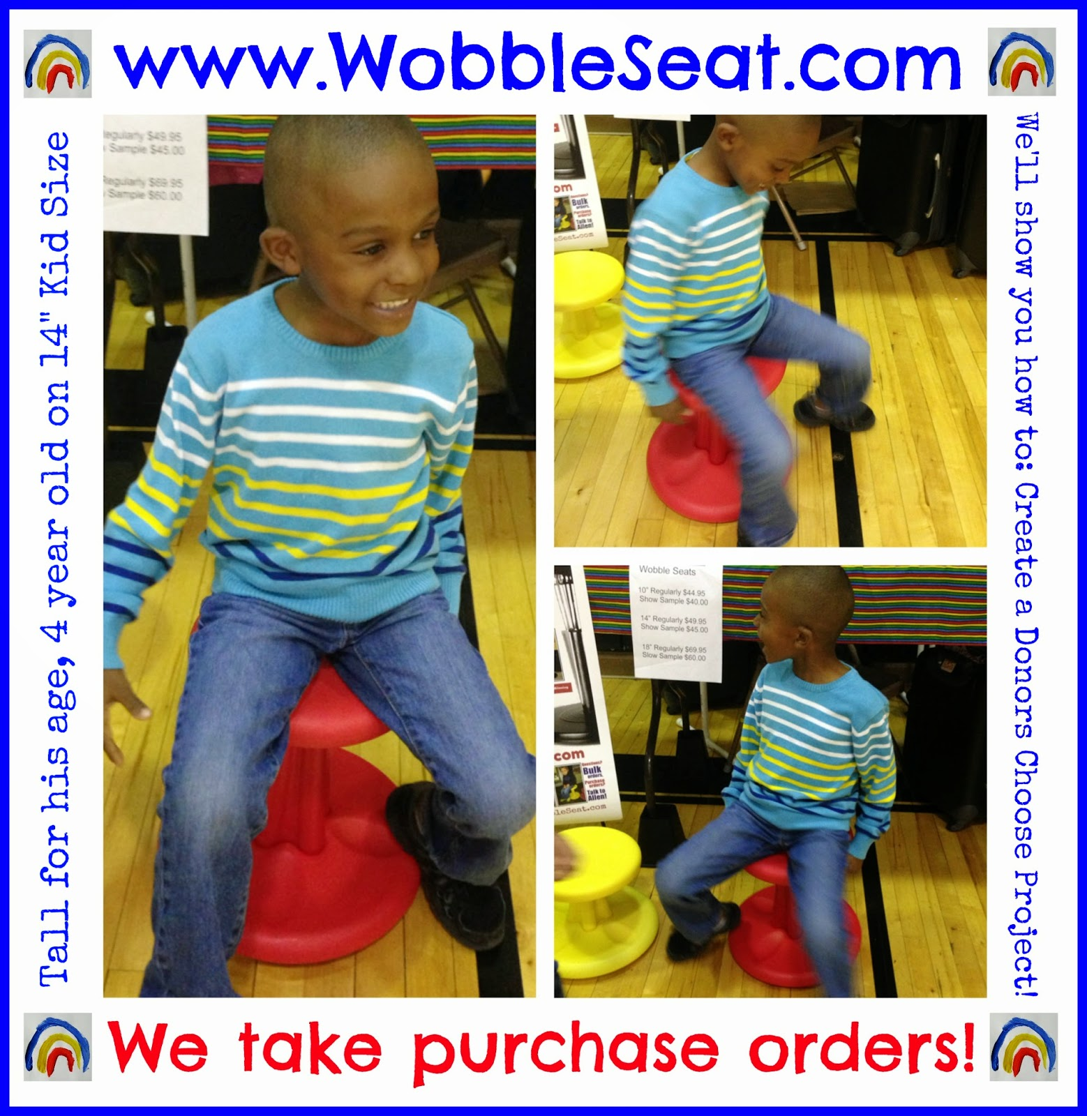 Wobble Seat: a ROCKING Stool distributed by Debbie Clement