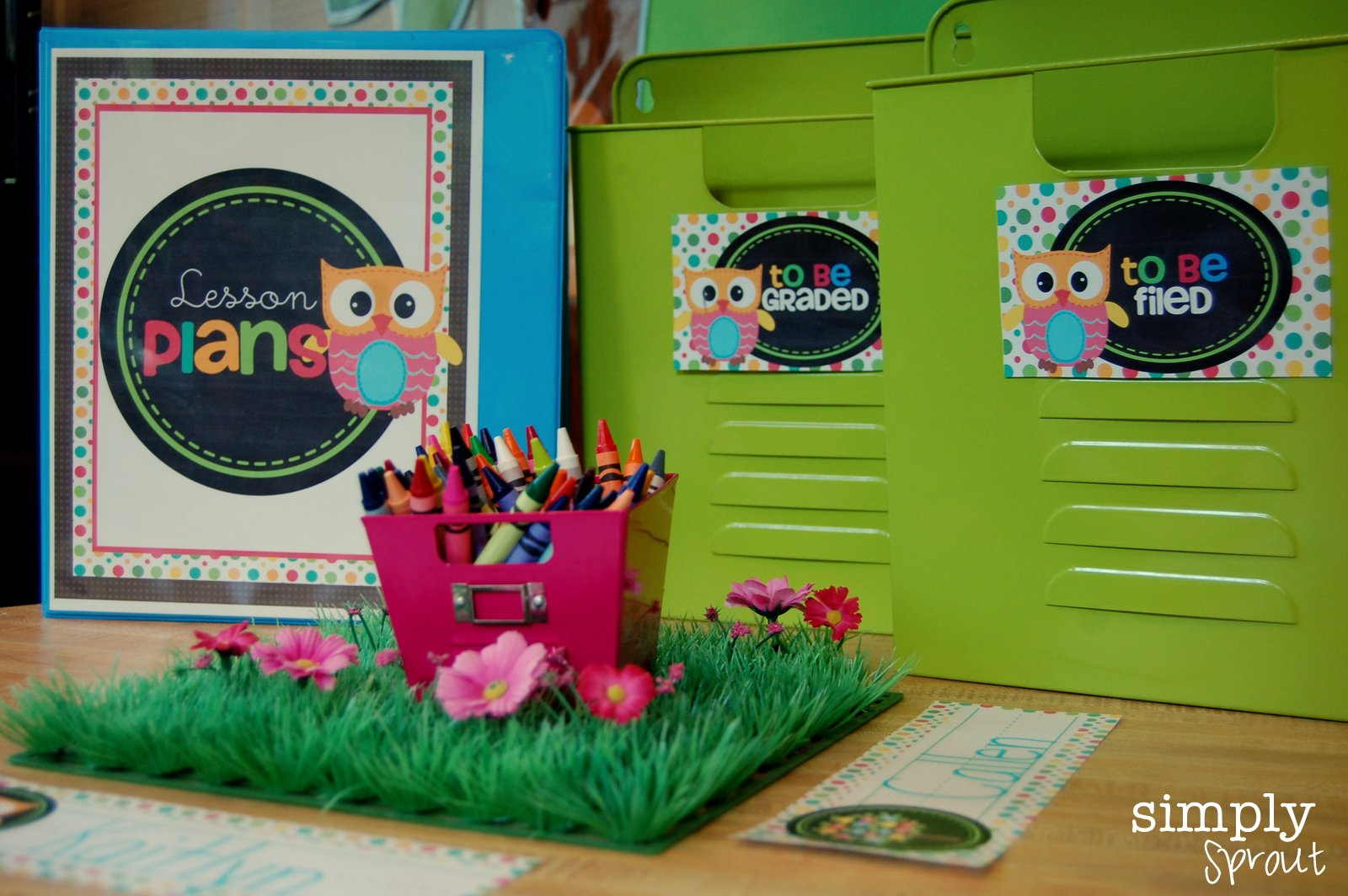 to school in style with cute classroom decor kits from simply sprout