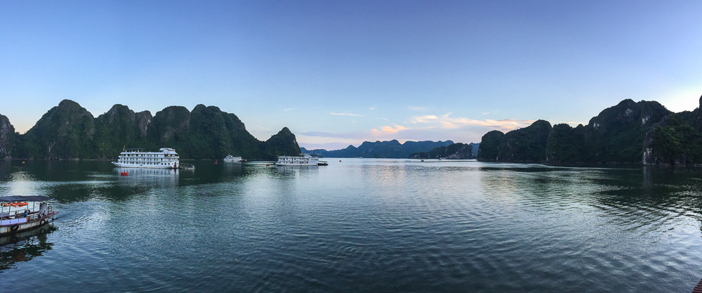 ha long bay vietnam panorama image