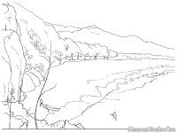 Mewarnai Gambar Panorama Pantai Selatan