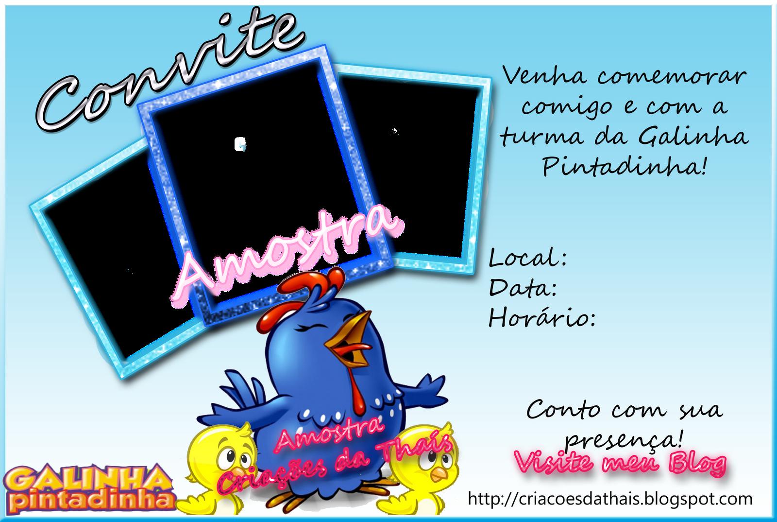 Convite De Aniversario Da Galinha Pintadinha