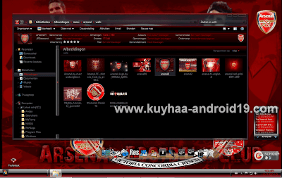 THEME WINDOWS 7 ARSENAL BLACK