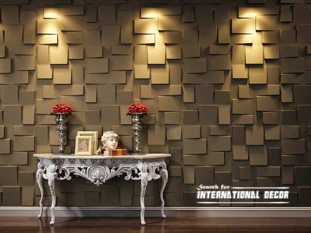 Decorative Wall Coverings : Decorative wall panels in the interior latest trends