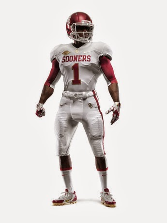 """Texas and Oklahoma Unveil New Nike """"Red River Rivalry ... 10 Gallon Cowboy Hat Front"""