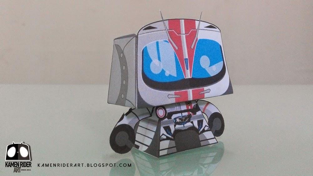Kamen Rider Mach Paper Toy