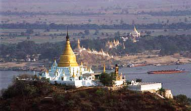 Sagaing Pagodas and Irrawaddy