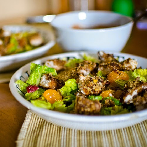 http://secretcopycatrestaurantrecipes.com/ocharleys-pecan-chicken-tender-salad-recipe/