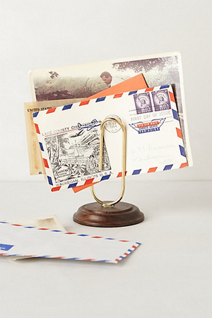 Anthropologie paper clip letter holder