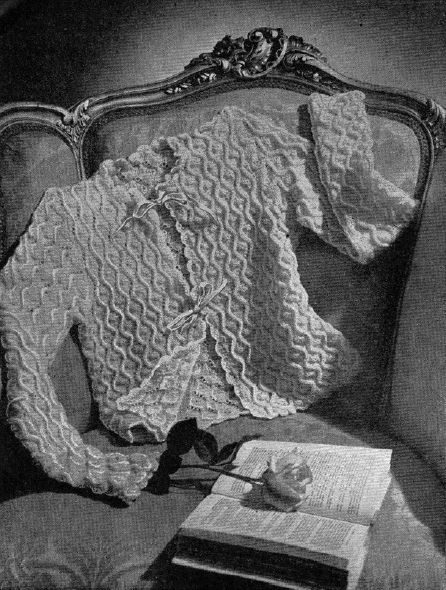 1940's Knitting - Cosy Bed Jacket free knitting pattern