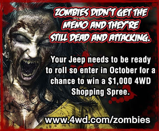 4WD jeep zombie contest