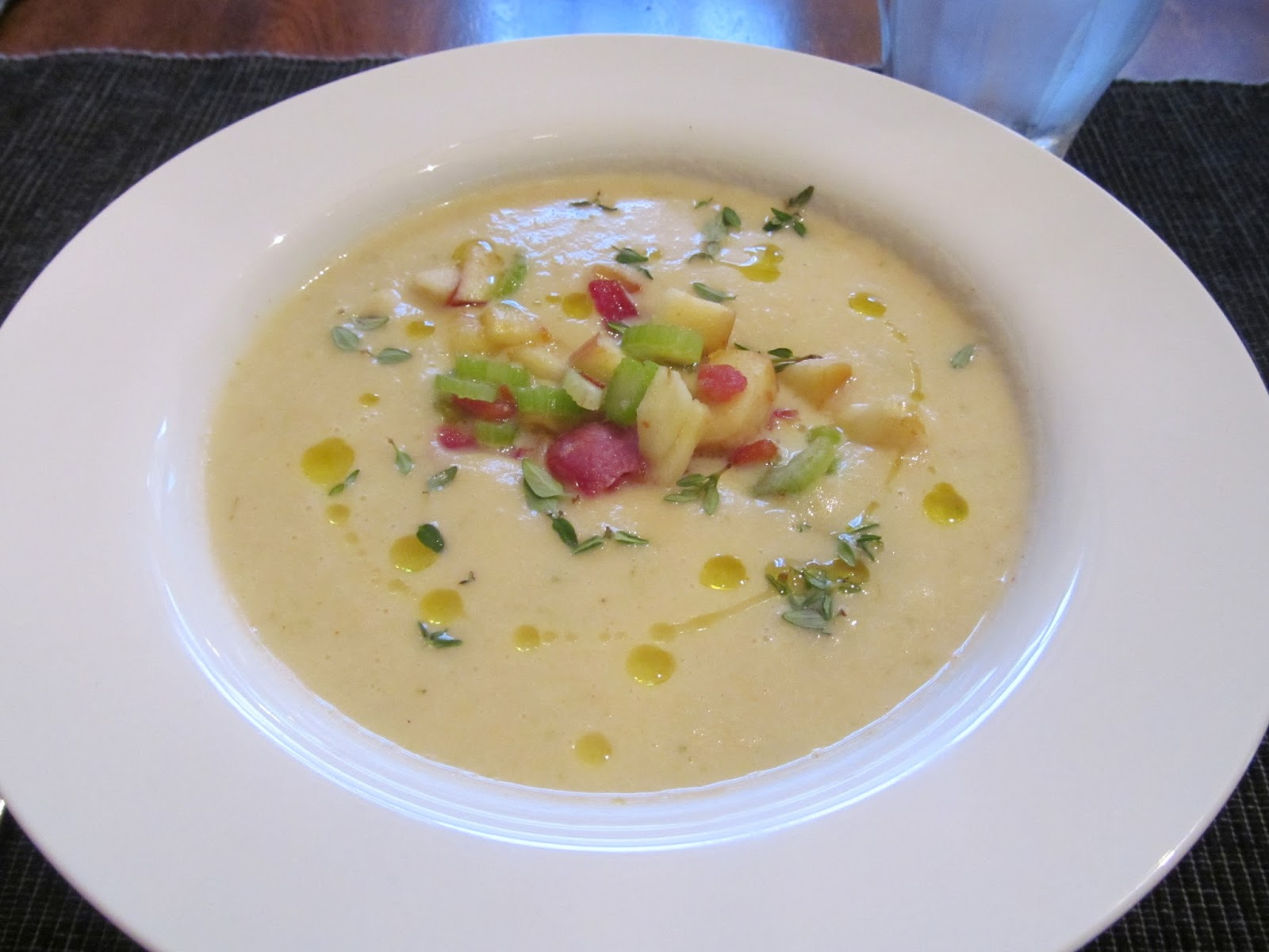 ... love of dinner: Celery Root (Celeriac) Soup with Apples and Bacon (GF