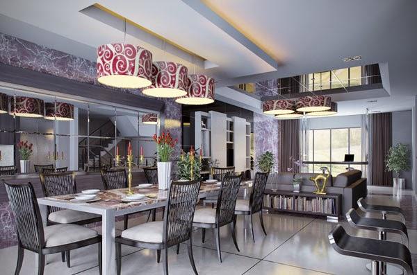 Ideas para comedores grandes colores en casa for Comedor grande moderno