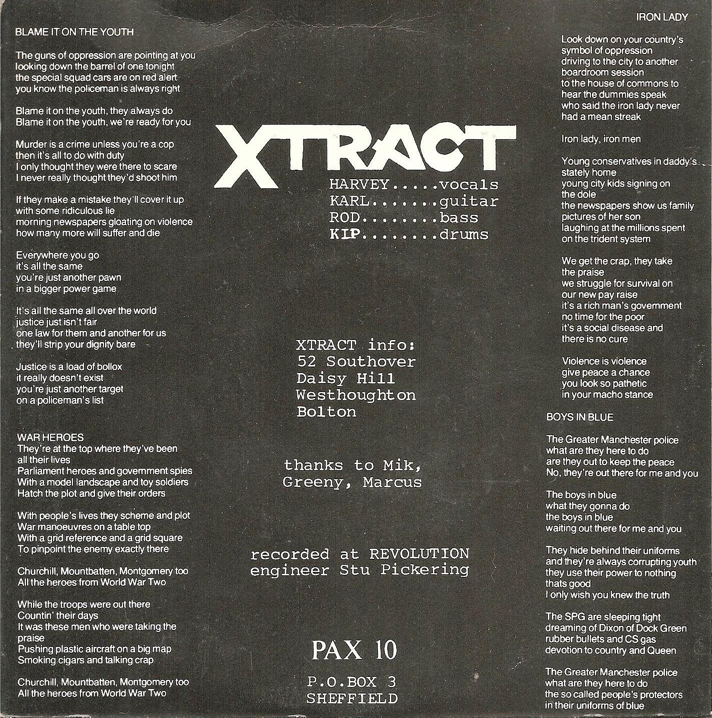 Xtract Blame It On The Youth