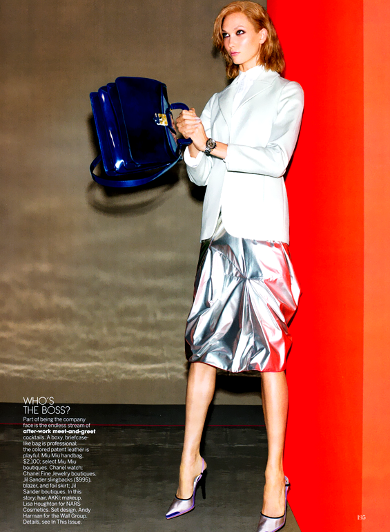 Karlie Kloss for Vogue US August 2012