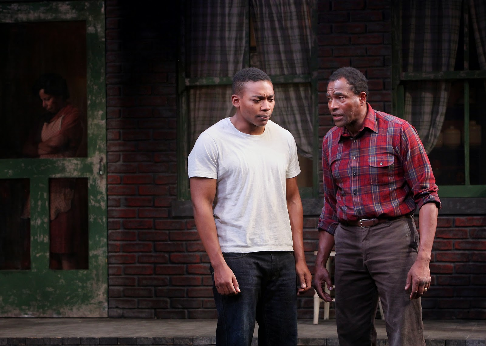 interchange wilson s fences at marin theatre company eddie ray jackson cory and carl lumbly troy maxson margo hall rose photo ed smith