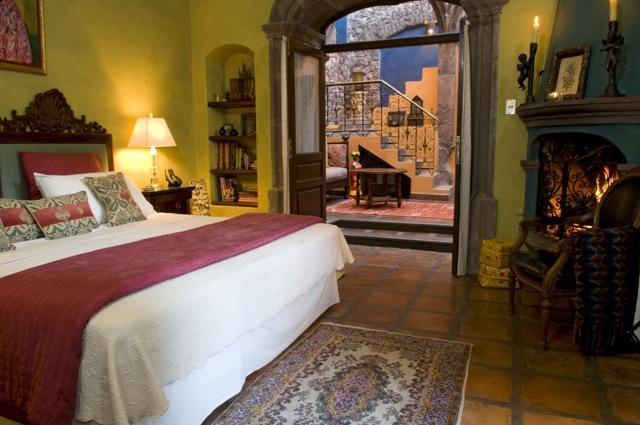 old world spanish bedroom interior