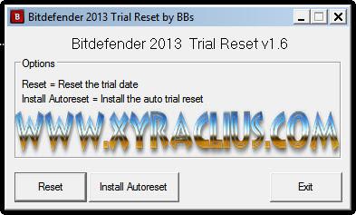 Bitdefender 2013 Trial Reset