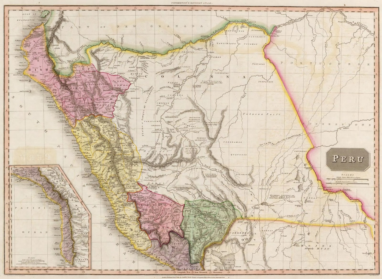 Mapas del per en el siglo xix el per en 1810 1812 1823 1828 a modern atlas from the latest and best authorities exhibiting the various divisions of the world with its chief empires kingdoms and states gumiabroncs Gallery