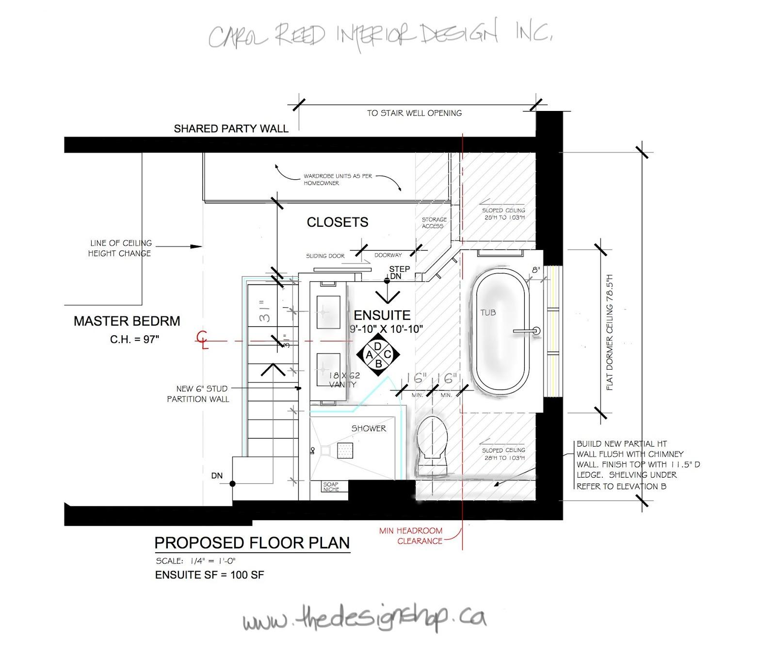 Ensuite Bathroom Walk In Closet Plans creed: e-design bathroom: from concept to sneak peek