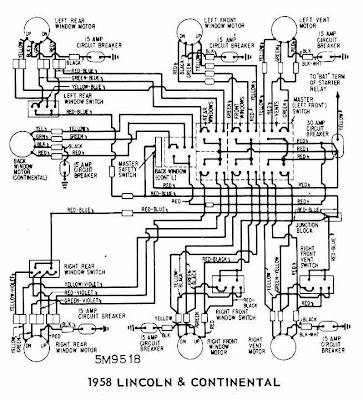 Lincoln And Continental Windows Wiring Diagram on 1964 Lincoln Continental Wiring Diagram